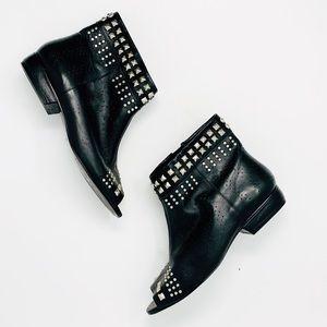 POUR LA VICTOIRE Studded Peep Toe Ankle Booties